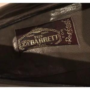 barrett Shoes - VTG Black Leather Italian Loafers J.R. Barrett 7